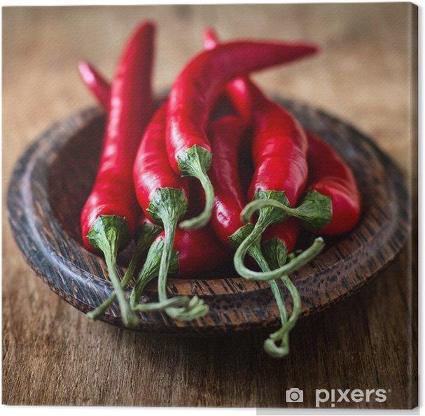 Tableau sur toile Chili pepper - Légumes