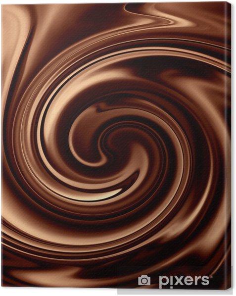 Tableau sur toile Chocolate background -
