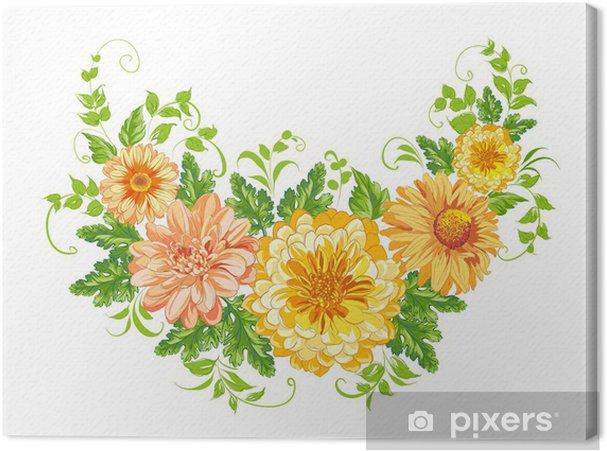 Tableau sur toile Chrysanthème. - Fleurs