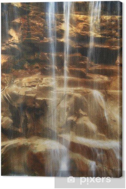 Tableau sur toile Chute d'eau sur les rochers - Eau