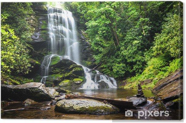 Tableau sur toile Chute d'eau au milieu de la verdure de la forêt - Cascades