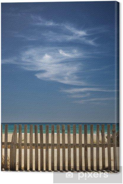 Tableau sur toile Ciel avec des nuages sur la plage - Eau