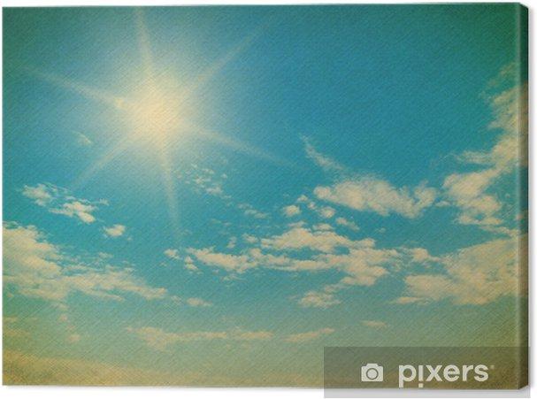 Tableau sur toile Ciel bleu avec des nuages gros plan - Arrière plans