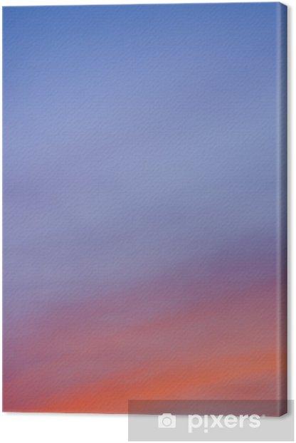Tableau sur toile Ciel bleu orange - Ciel