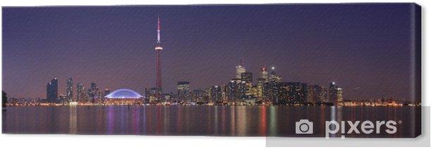 Tableau sur toile Ciel de Toronto au crépuscule (8:10 dans la nuit) - Autres