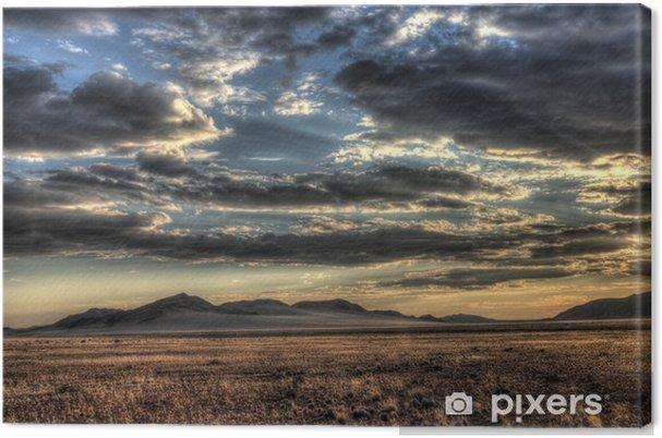 Tableau sur toile Ciel du soir sur la Namibie - Afrique