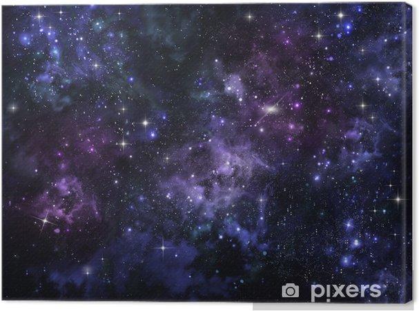 Tableau sur toile Ciel étoilé dans l'espace ouvert - Styles