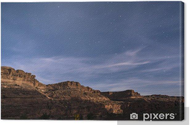 Tableau sur toile Ciel étoilé de nuit près de Porcupine Ridge Trail Moab Utah - Amérique