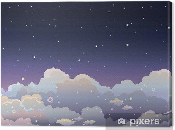 Tableau sur toile Ciel étoilé de nuit. - Ciel