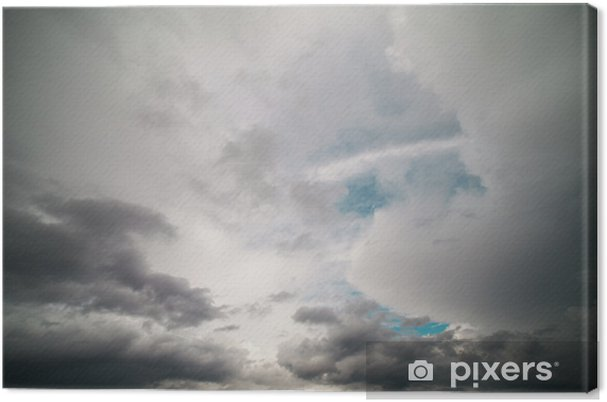 Tableau sur toile Ciel sombre - Ciel