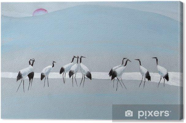 Tableau sur toile Cigognes sur la rivière - Passe-temps et loisirs