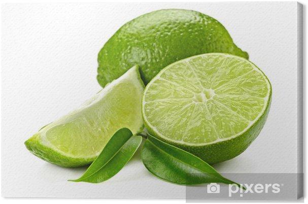 Tableau sur toile Citron vert - Fruits