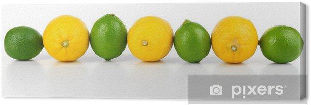 Tableau sur toile Citrons et limes, isolé sur blanc - Destin