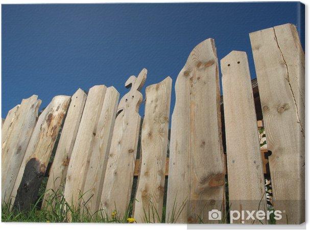 Tableau sur toile Clôture de jardin en bois • Pixers® - Nous vivons ...