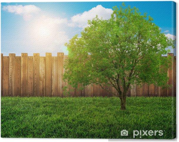 Tableau sur toile Clôture de jardin • Pixers® - Nous vivons pour changer