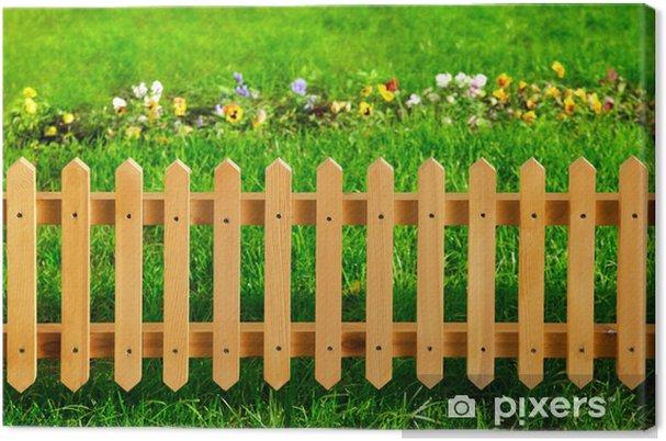 Tableau sur toile Clôture en bois de jardin • Pixers® - Nous vivons ...