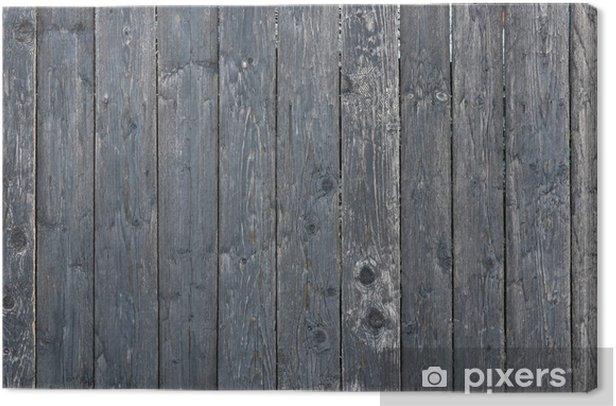 Tableau sur toile Clôture en bois - Thèmes