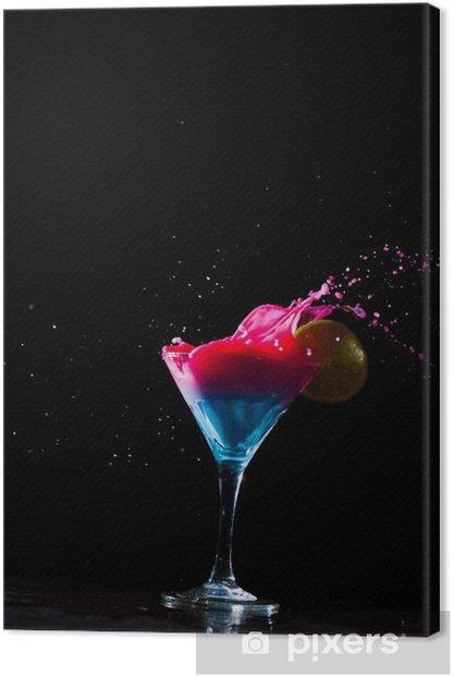 Tableau sur toile Cocktail frais éclaboussures laiteux - Alcool