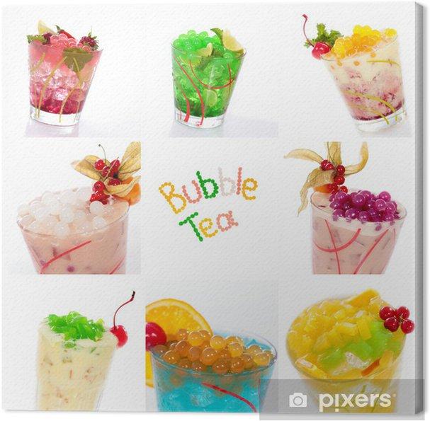 Tableau sur toile Cocktails Collage mit Bobas und Jelly - Alcool