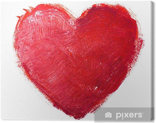 Tableau sur toile Coeur d'aquarelle. Concept - l'amour, les relations, l'art, la peinture - Arrière plans