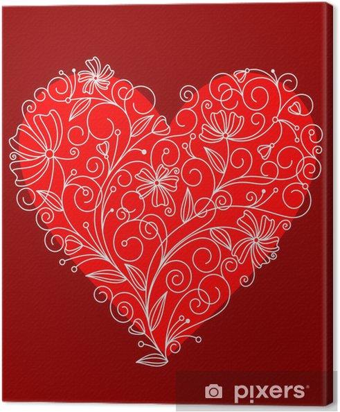Tableau Sur Toile Coeur De Fleur Rouge Pixers Nous Vivons Pour