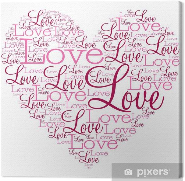 Tableau sur toile Coeur de mots dans un format vectoriel. - Fêtes internationales