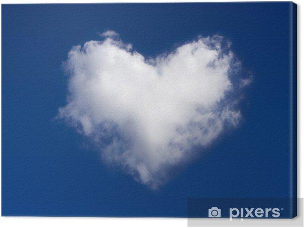 Tableau sur toile Coeur nuage - Bonheur