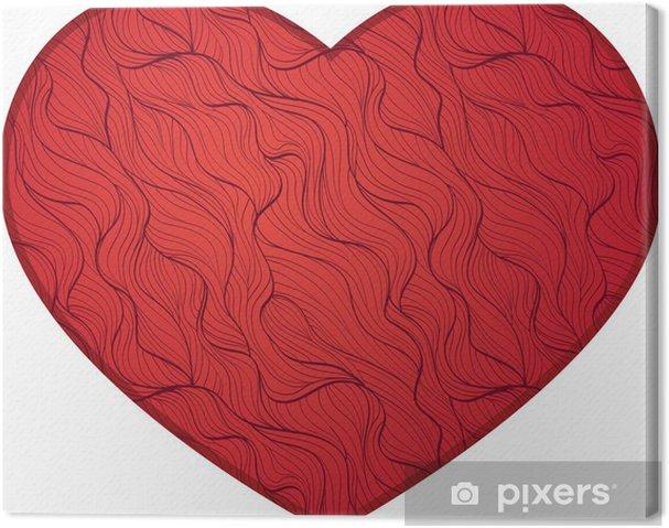 Tableau sur toile Coeur rouge - Signes et symboles