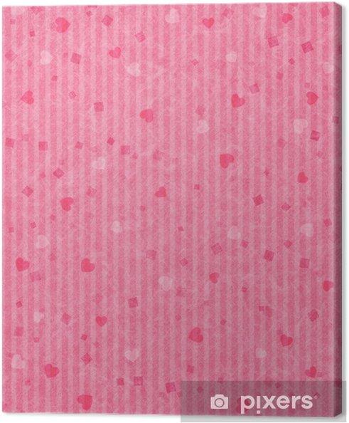 Tableau sur toile Coeur Washi - Bonheur