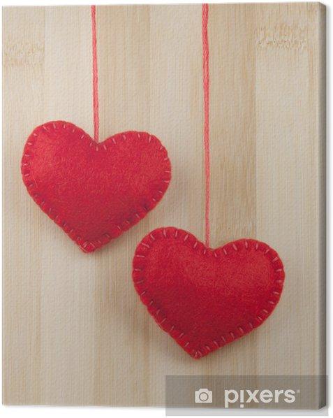 Tableau sur toile Coeurs rouges - Fêtes internationales