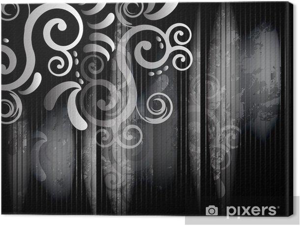Tableau sur toile Coin en noir et blanc - Styles