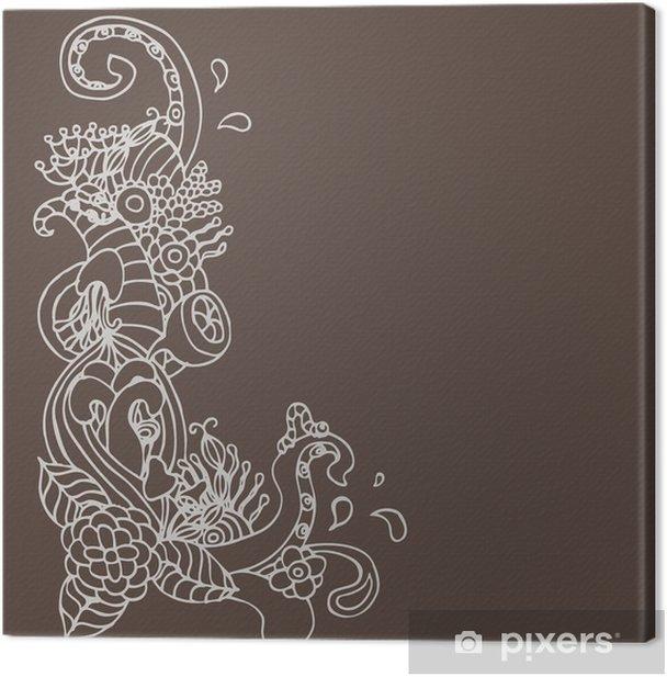 Tableau sur toile Coin vecteur ornement de fleurs de griffonnage - Art et création