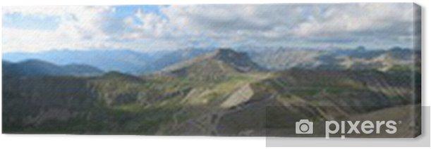 Tableau sur toile Col de la Bonette - Montagne