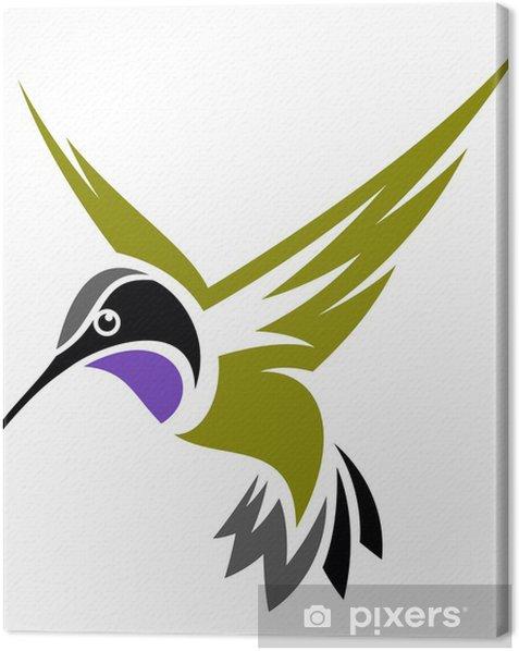 Tableau sur toile Colibri à gorge noire - Oiseaux