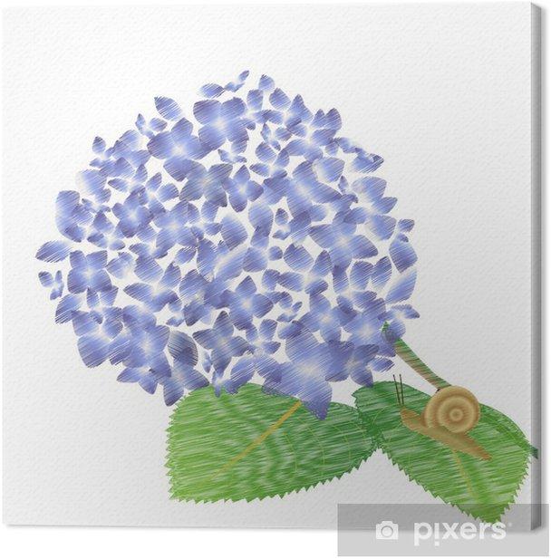 Tableau sur toile Colimaçon - Fleurs