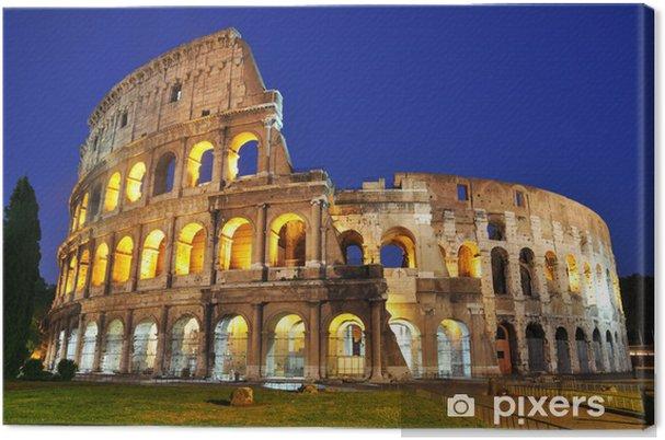 Tableau sur toile Colisée au crépuscule - Thèmes