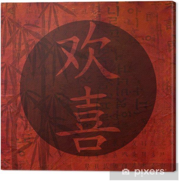 Tableau sur toile Collage chinesisches zeichen für glück - Sur la route