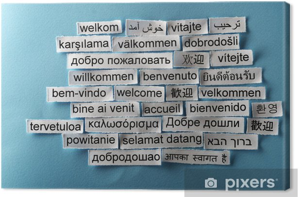 Tableau sur toile Collage de bienvenue - Arrière plans