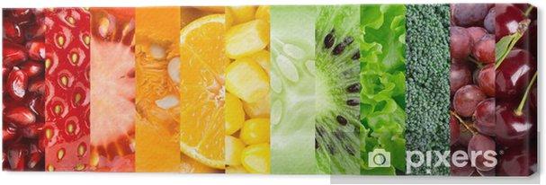 Tableau sur toile Collection de différents fruits et légumes - Pour cuisine