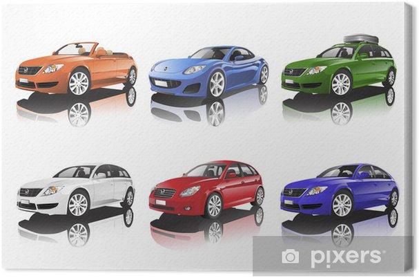 Tableau sur toile Collection de voitures - Sur la route