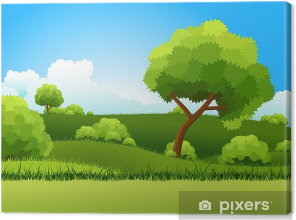 Tableau sur toile Collines vertes - Saisons
