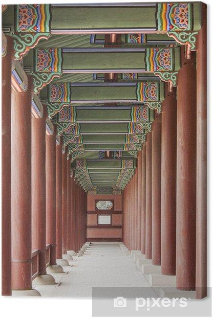 Tableau sur toile Colonnade Au Gyeongbok Palais Royal - Thèmes