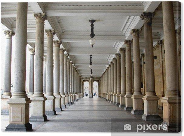 Tableau sur toile Colonnade dans la célèbre station thermale de Karlovy Vary aka Karlsbad - Prague