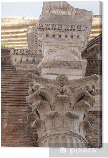 Tableau sur toile Colonne détail de base, le Panthéon romain, Rome, Italie - Villes européennes