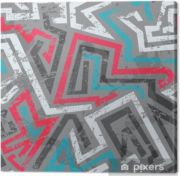 Tableau sur toile Coloré graffiti grunge, seamless - Arrière plans