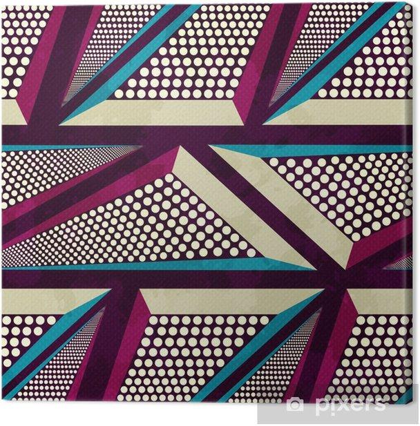 Tableau sur toile Coloré graffiti grunge, seamless - Ressources graphiques