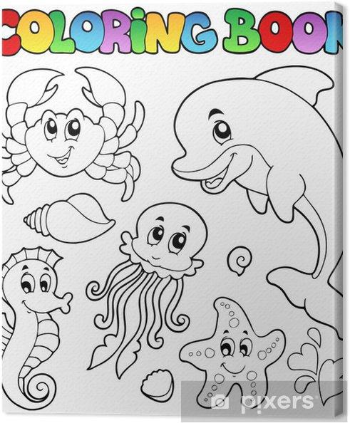 Coloriage Animaux Mer.Tableau Sur Toile Coloriage Animaux Divers 2 Livres De Mer