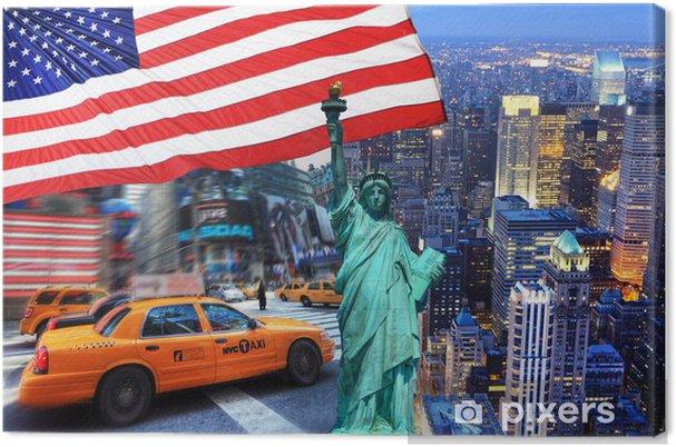 Tableau sur toile Composition de New York. - Thèmes
