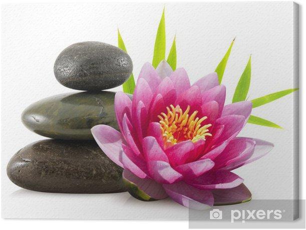 Tableau sur toile Composition zen, pierres, lotus et bambou - Styles
