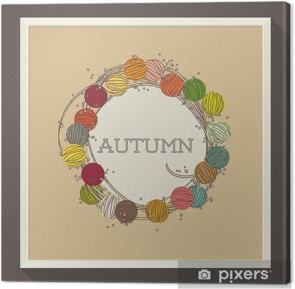 Tableau sur toile Conception abstraite d'automne avec des perles colorées. Vector illustration - Merveilles naturelles